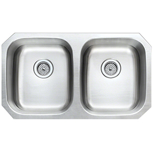 Stainless Steel - Double Bowl